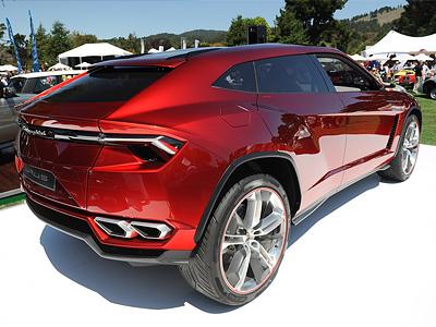 Презентация концепта Lamborghini Urus в Монтерее, штат Калифорния