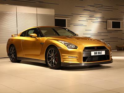 Золотой Nissan GT-R Усейна Болта
