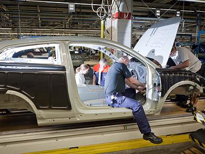 Сборочный конвейер Volvo C30
