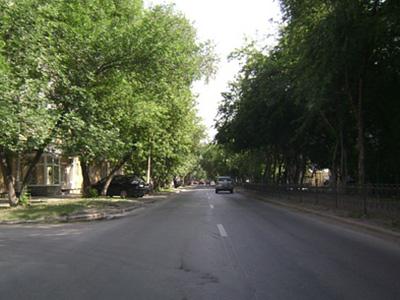Улица Бажова в Екатеринбурге