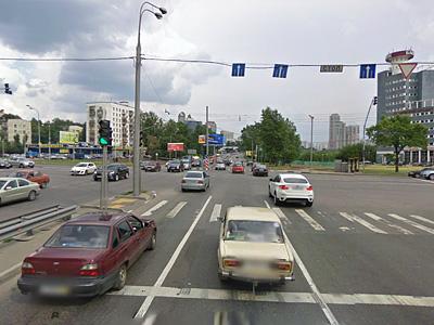 Пересечение улицы Лобачевского с проспектом Вернадского