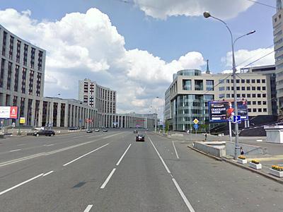 Проспект Сахарова по направлению в сторону улицы Каланчевской