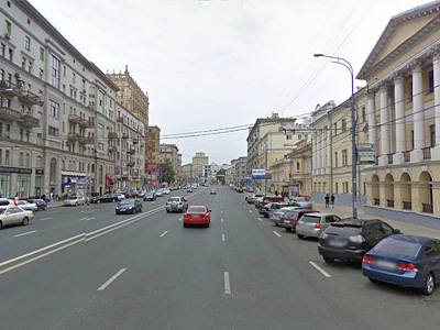 Проспект Мира по направлению от Садового кольца в сторону ТТК