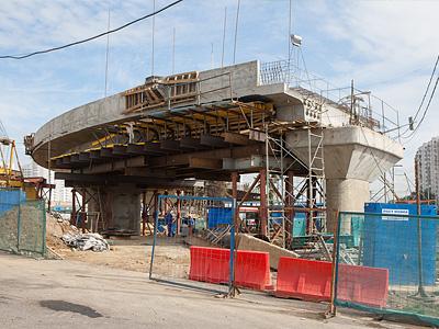 Строительство эстакады на Варшавском шоссе