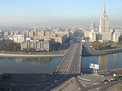 Кутузовский проспект по направлению в область