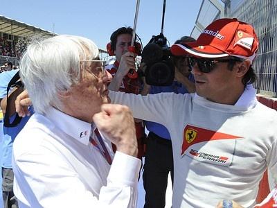 Берни Экклстоун с пилотом Ferrari Фелипе Массой