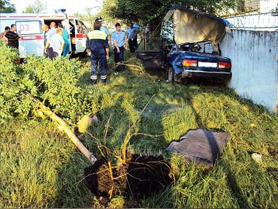 Авария с участием пьяного водителя