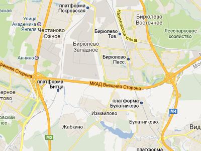 Варшавское шоссе и Липецкая улица в Москве
