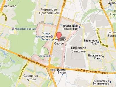 Территориальные границы района Чертаново в Москве