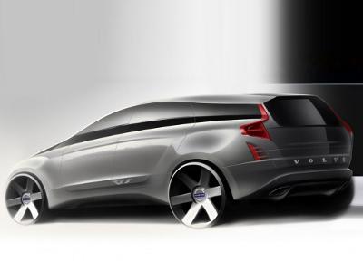 Дизайнерский скетч Volvo XC90 второго поколения