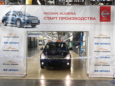 Выпуск Nissan Almera на производственных площадях в Тольятти
