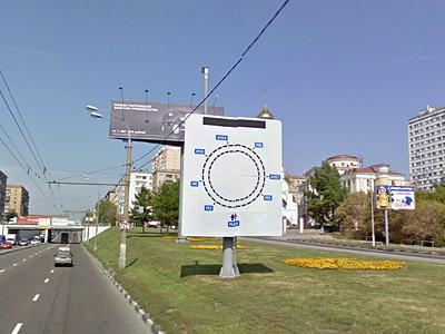 Информационное табло в Москве