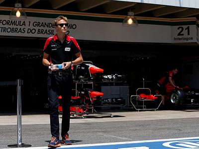 Макс Чилтон в паддоке Гран-при Бразилии