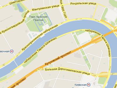 Краснопресненская набережная в Москве