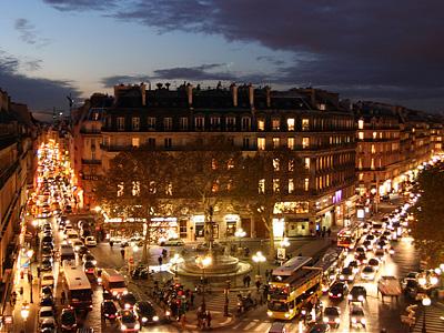 Дорожное движение в Париже