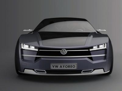 Концепт электрического четырехдверного купе Volkswagen Ayoreo