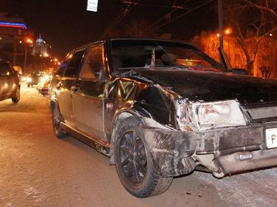 Автомобиль виновника ДТП в Екатеринбурге