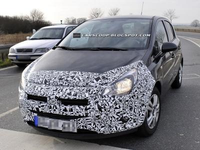 Шпионский снимок нового Opel Corsa