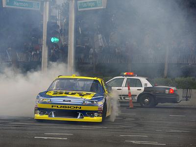 Заезды гонщиков NASCAR в Лас-Вегасе