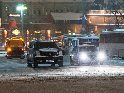 Экипаж ДПС в центре Москвы