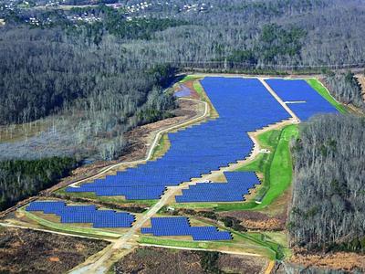 Комплекс солнечный батарей в городе Чаттануга, США