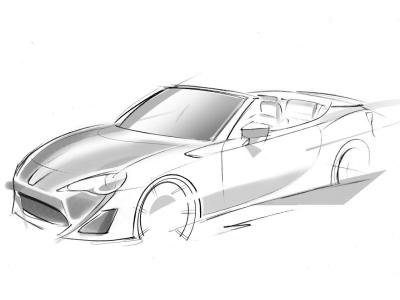 Скетч открытой версии Toyota GT 86