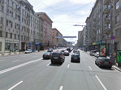 Первая Тверская-Ямская улица по направлению в центр