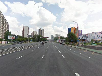 Ленинский проспект по направлению в центр