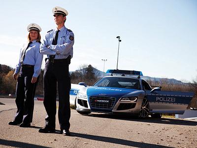 Полицейский Audi R8 в Германии