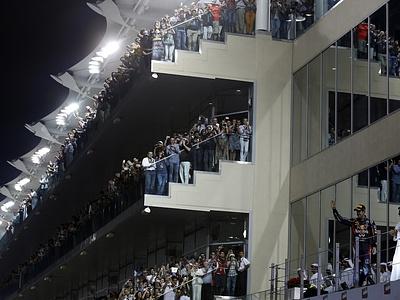 Зрительские трибуны в Абу-Даби