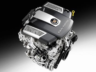 Двухнаддувный двигатель Cadillac