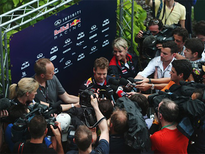 Себастьян Феттель на Гран При Малайзии