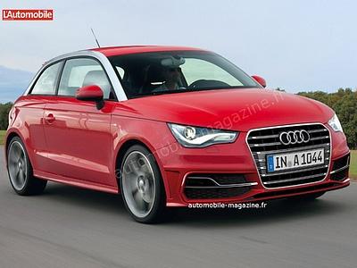 Предполагаемый облик рестайлинговой Audi A1