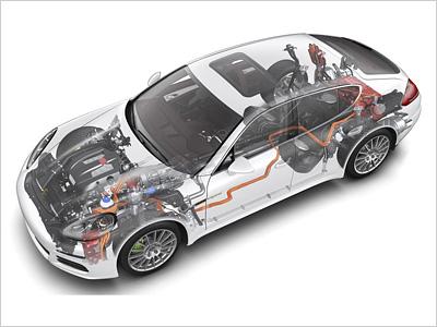 Схема гибридной Porsche Panamera
