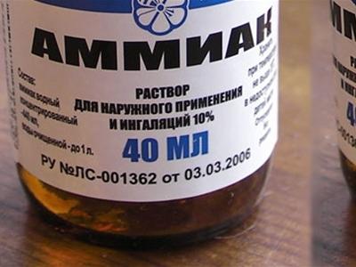 Нашатырный спирт как средство против тараканов