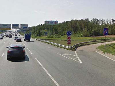 Съезд со МКАД перед Киевским шоссе