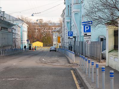 Платный паркинг в центре Москвы