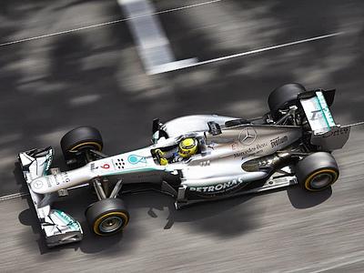 Нико Росберг за рулем Mercedes W04