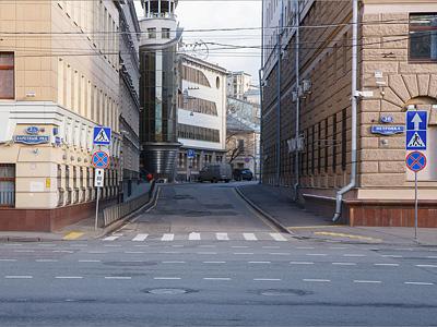 Зона платной парковки на Среднем Каретном переулке