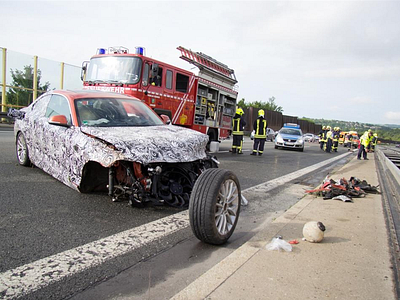 Авария прототипа BMW 2 серии