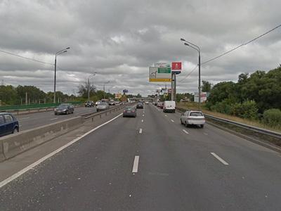 Ленинградское шоссе перед поворотом на Шереметьево