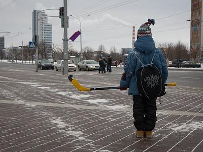 На одной из трасс Минска