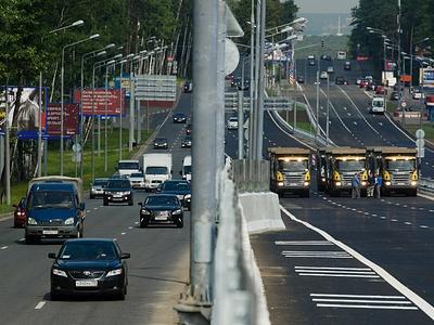 Новая эстакада на Рублевском шоссе
