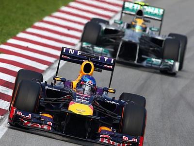 Феттель и Хэмилтон на Гран-при Великобритании