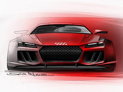 Скетчи нового Audi Quattro