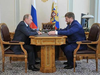 Рамзан Кадыров на встрече с Владимиром Путиным