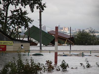 Подтопленные районы Хабаровска