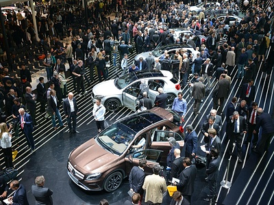 Mercedes-Benz GLA-класса на автосалоне во Франкфурте