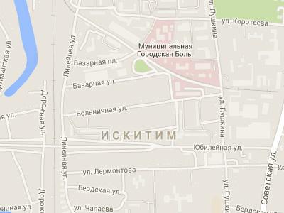 Улица Больничная в городе Искитима, Новосибирская область