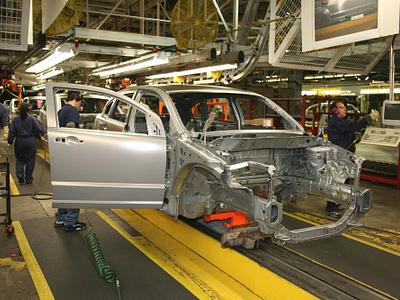 Производственный конвейер Fiat